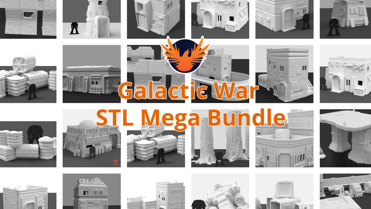 Corvus Games Terrain 3D printed STL mega bundle scenery pack for Star Wars Legion