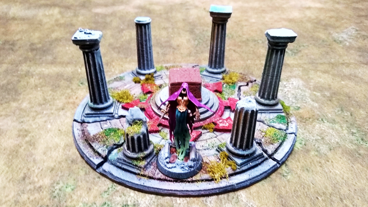 Corvus Games Terrain 3D printed Sigillum Maleficis Chaos Altar for Age of Sigmar, Kill Team, Warhammer 40K and Frostgrave