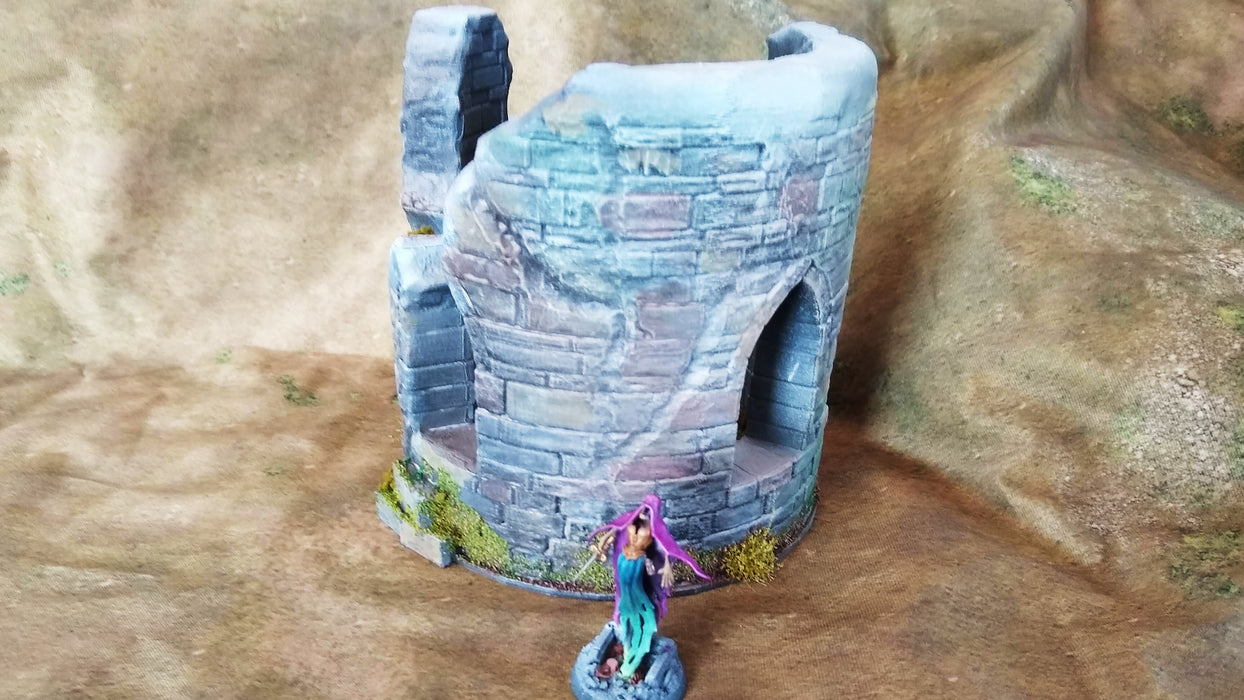 Corvus Games Terrain 3D printed Sigillum Maleficis wizards ruined tower for Age of Sigmar and Frostgrave