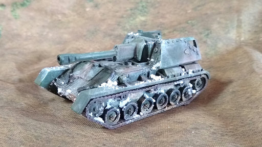 Corvus Games Terrain 3D printed Soviet SU76m for 28mm tabletop wargames like Bolt Action