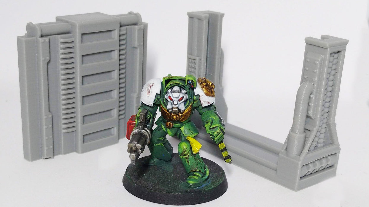 Corvus Games Terrain 3D printed doorways for Space Hulk and Warhammer 40K and Infinity