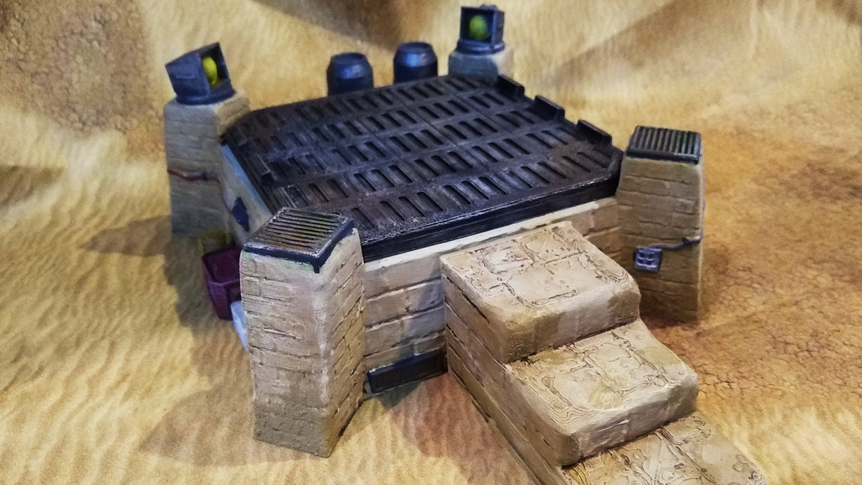 Corvus Games Terrain 3D printed landing pad for creating Jedha Pilgrim City in Star Wars Legion