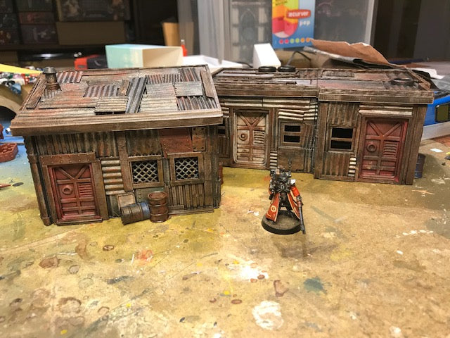 Corvus Games Terrain 3D printed post apocalyptic fencing for 28mm tabletop wargaming like Fallout, The Walking Dead, This is Not a Test, Warhammer 40k, Kill Team and more