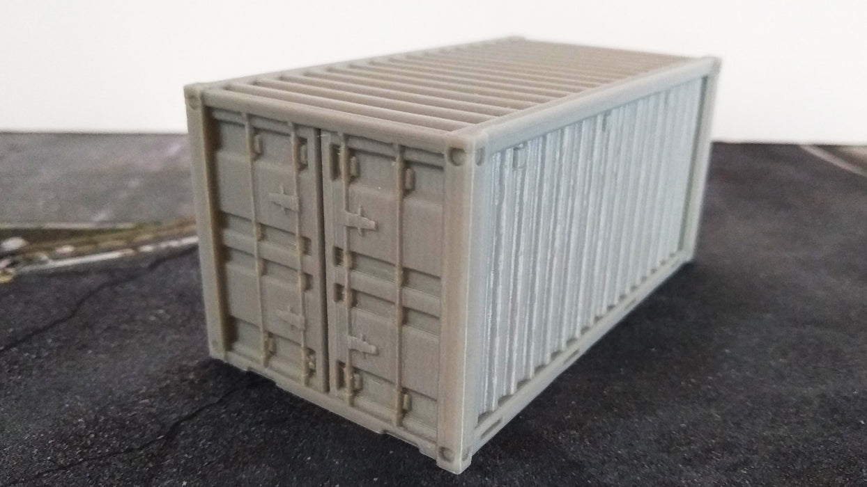 Corvus Games Terrain 3D printed shipping containers for 28mm tabletop wargaming like Fallout, This is not a Test, Wreckage, Last Days, The Walking Dead, Wasteman