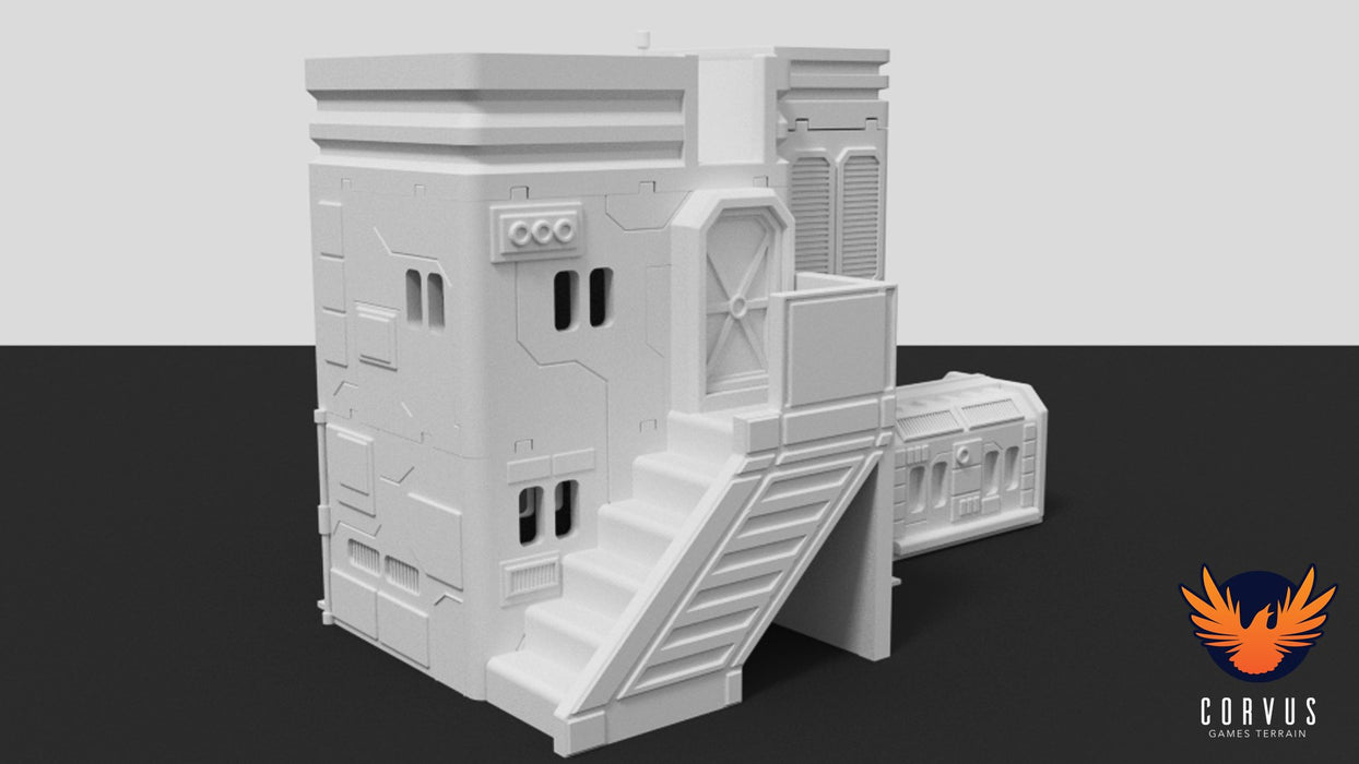 Corvus Games Terrain 3d printable City Admin Building for Star Wars Legion