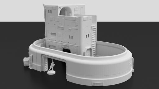 Corvus Games Terrain 3d printable Droid Maintenance Workshop for Star Wars Legion