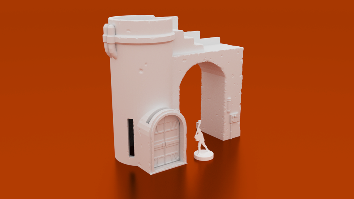 Corvus Games Terrain 3d printable Nursery building Kaarsohn's Refuge for Star Wars Legion Mandalorian