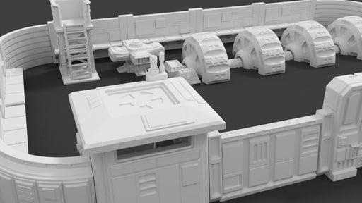 Corvus Games Terrain 3d printable Freedom Fighters Compound scenery for Star Wars Legion, Infinity and Warhammer 40K