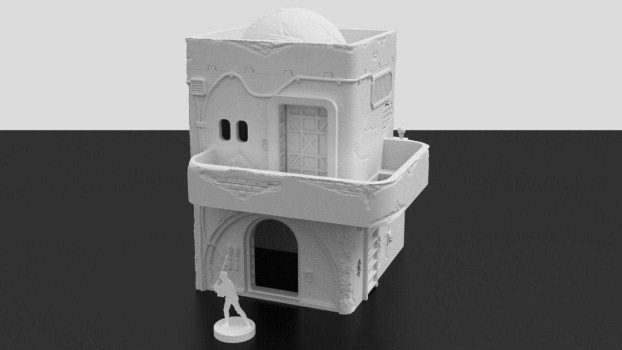 Corvus Games Terrain 3D printable Jedha scenery for Star Wars Legion