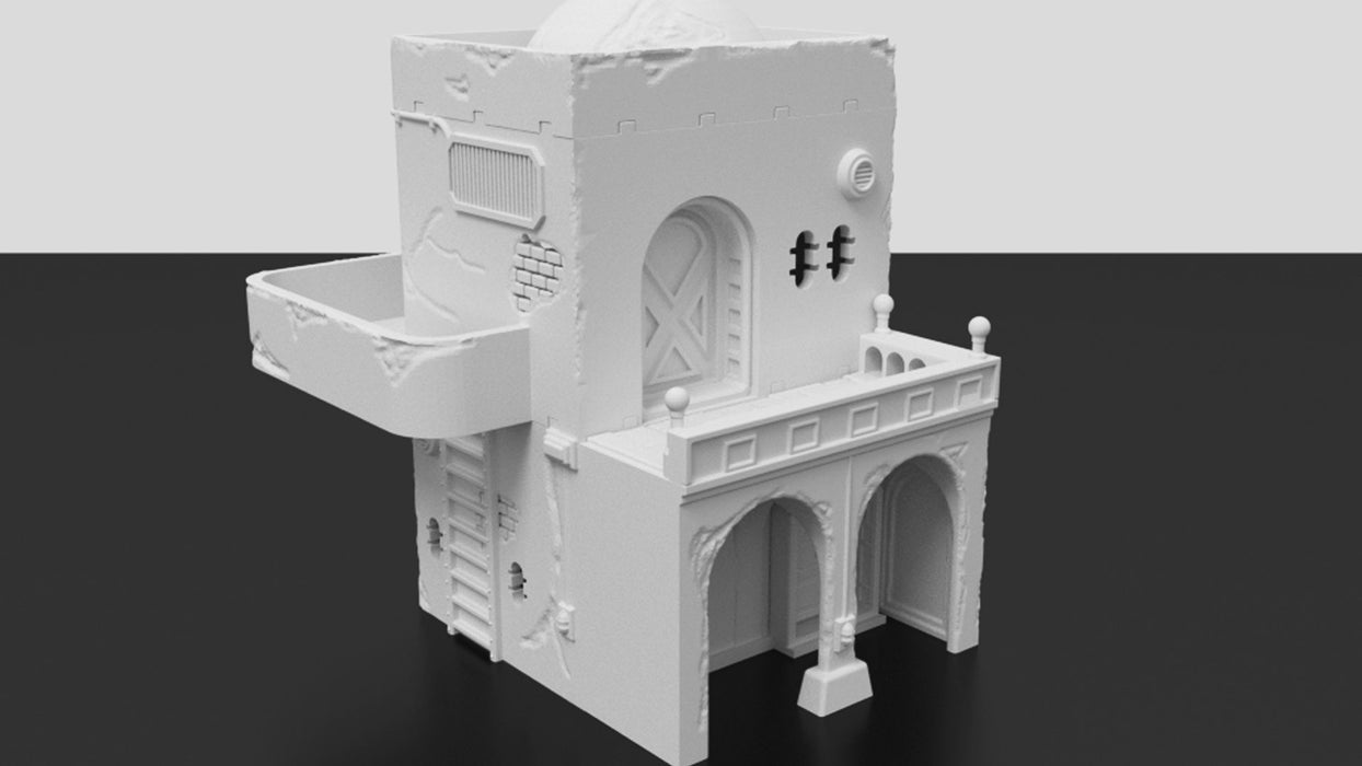 Corvus Games Terrain 3d printable Jedha Pilgrim City building for Star Wars Legion tabletop 32mm wargame