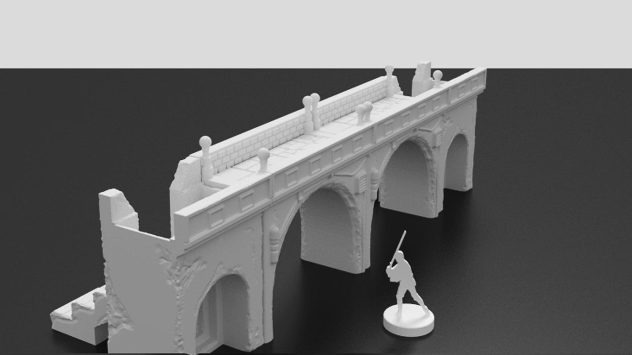 Corvus Games Terrain 3d printable Jedha archway bridge and steps for Star Wars Legion