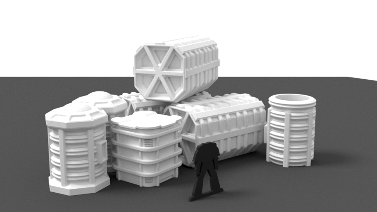 Corvus Games Terrain 3d printable cargo container bundle for Star Wars Legion