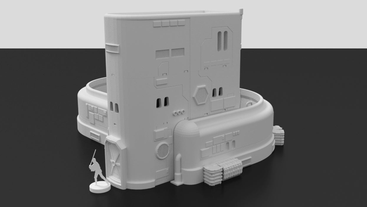Corvus Games Terrain 3d printable modular Droid Maintenance Workshop for Star Wars Legion