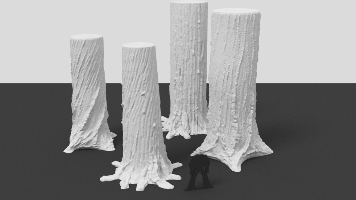 Corvus Games Terrain 3d printable tall trees for Star Wars Legion, Warhammer 40K and Infinity