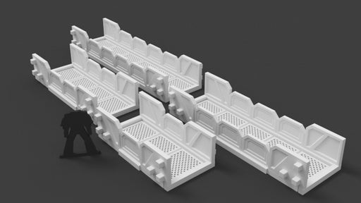Corvus Games Terrain 3d printable walkways for Star Wars Legion, Warhammer 40k, and Infinity scenery