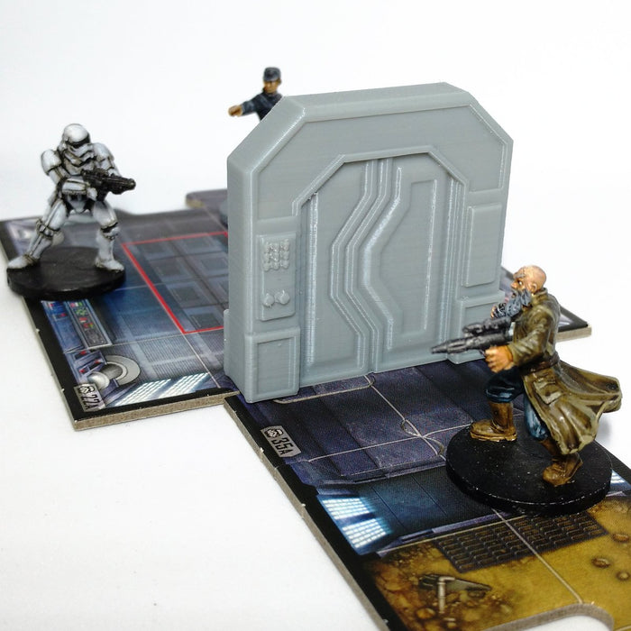 Corvus Games Terrain 3d printed doors and crates for Star Wars Imperial Assault