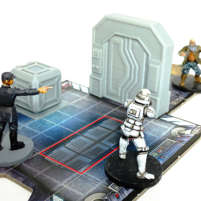 Corvus Games Terrain 3d printed doors for Star Wars Imperial Assault