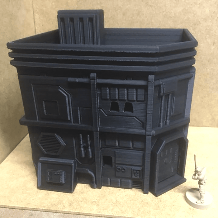 Corvus Games Terrain Medium City House 3D printed scenery for Star Wars Legion and Infinity The Game