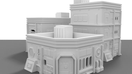 Corvus Games Terrain Medium City House for Star Wars Legion, Warhammer 40K and Infinity buildings and scenery