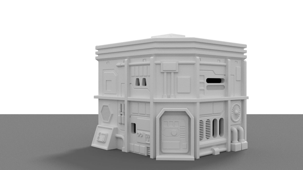 Corvus Games Terrain Medium City House for Star Wars Legion, Warhammer 40K and Infinity