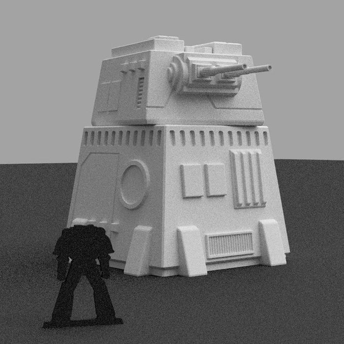 Corvus Games Terrain Star Wars Legion Turbo Laser Battery 3D print STL