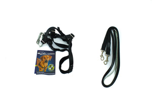 "Freedom Harness, No Pull Dog Harness & Leash Combo 5/8"" Wide - Medium - Black - Only One Treats Canada Wholesale Bulk"