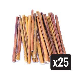 "12"" Standard Natural Beef Bully Stick - Case of 25 - Only One Treats"