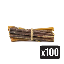"6"" Standard Natural Beef Bully Stick - Case of 100 - Only One Treats"
