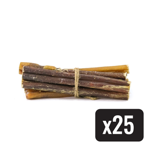 "6"" Standard Natural Beef Bully Stick - Case of 25 - Only One Treats"