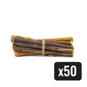 "6"" Standard Natural Beef Bully Stick - Case of 50 - Only One Treats"