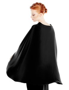 Black Long Cape Dress