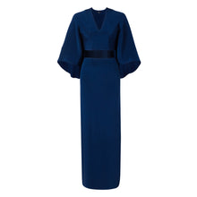 Navy Long Cape Dress