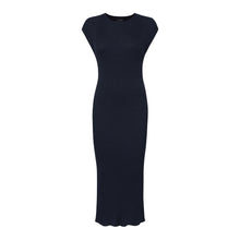 Navy Seamless Rib Dress