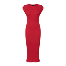 Red Seamless Rib Dress