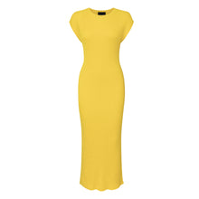 Yellow Seamless Rib Dress