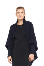 Navy Cotton Cape