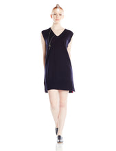 Navy and Magenta Knitted Dress