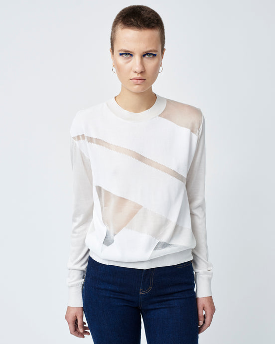 White Intarsia Sweater