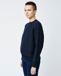 White Stitch-Mix Sweater