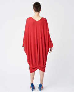 Red Seamless Oversized Dress