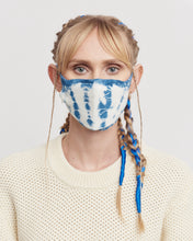 Indigo Tie-Dyed Knitted Mask