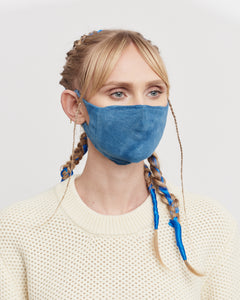 Indigo Dyed Knitted Mask