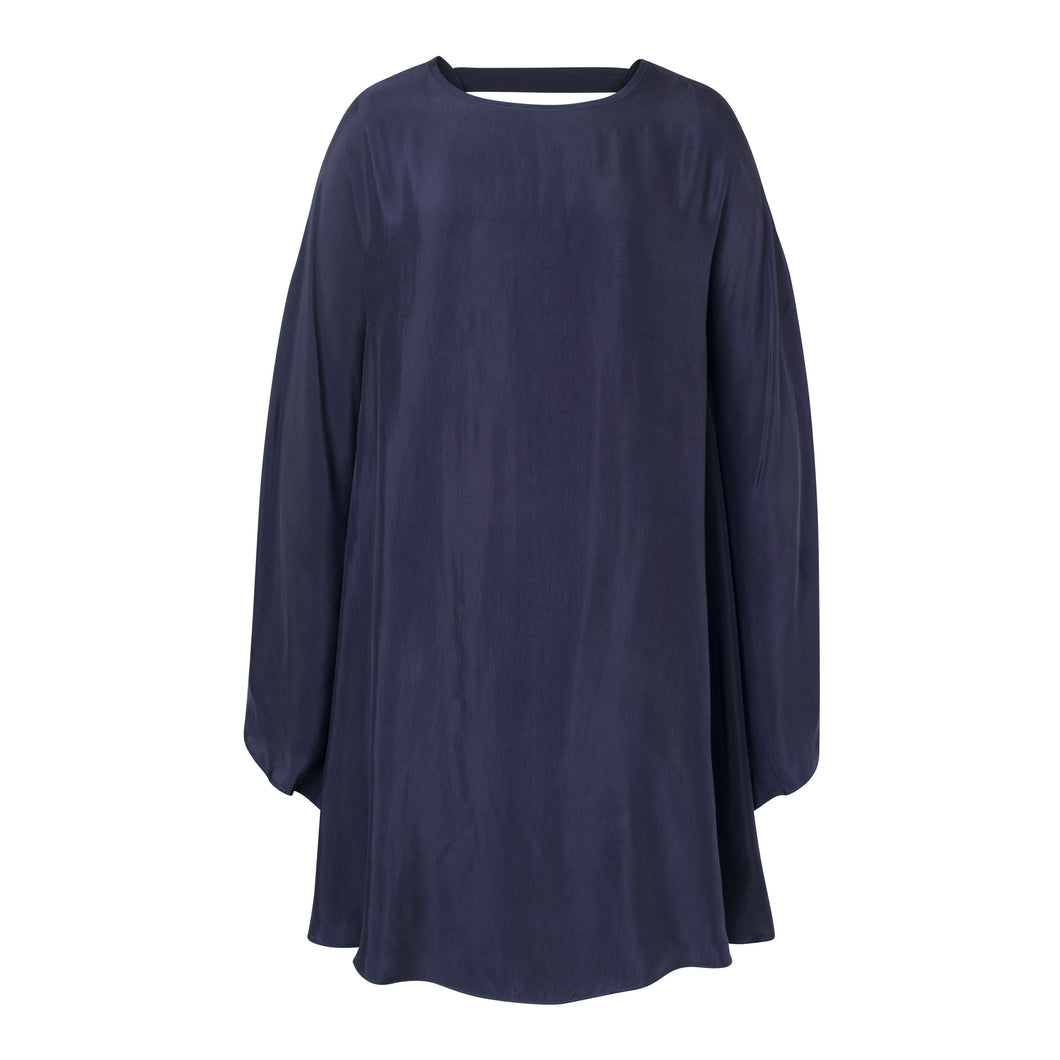 Navy Poncho Dress