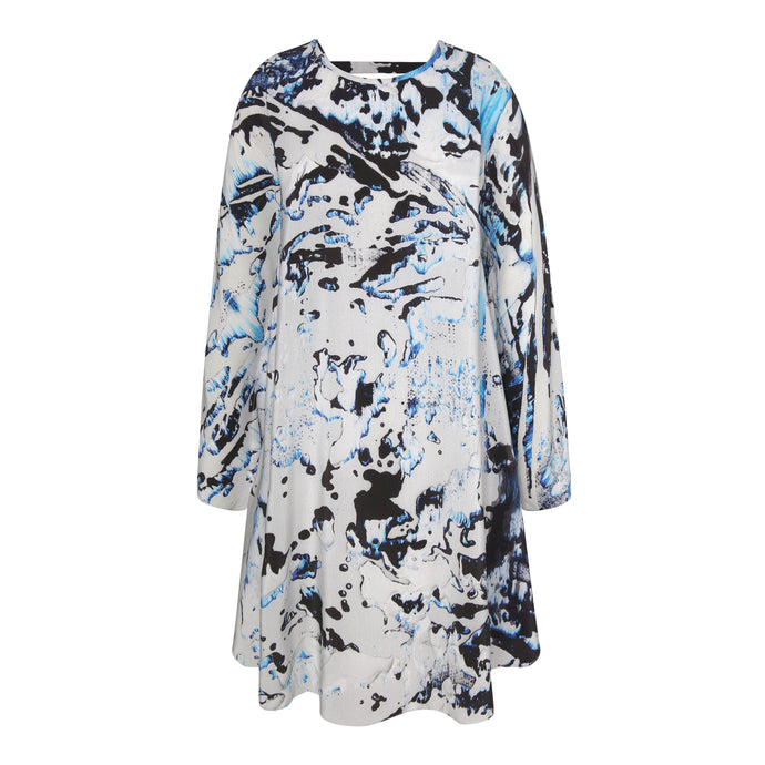 Printed Poncho Dress