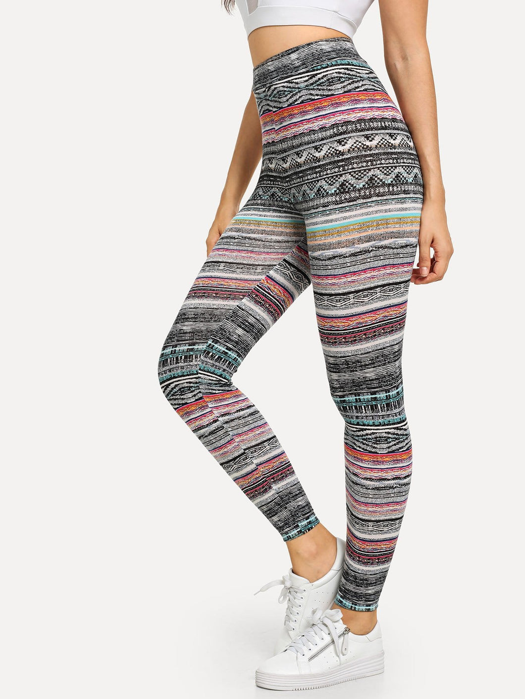 High Waist Tribal Print Leggings [chicberri]