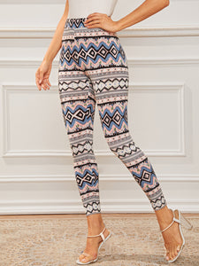 Wide Waistband Tribal Print Leggings [chicberri]
