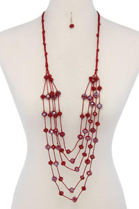 Beaded multi layered necklace [chicberri]