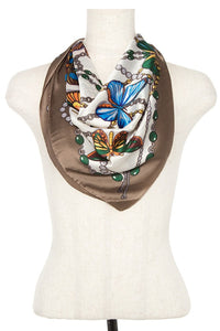 Butterfly mix silk scarf [chicberri]