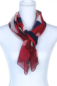 Geometric Pattern Oblong Scarf [chicberri]