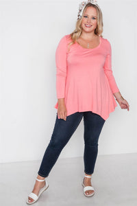 Plus Size Long Sleeve Basic Top [chicberri]